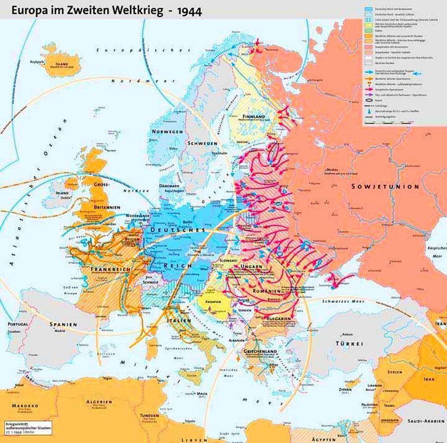Karte 2. Weltkrieg